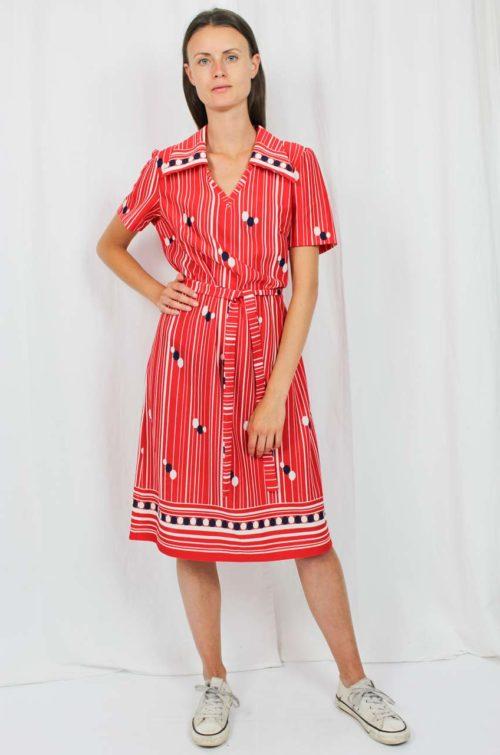 Vintage Kleid 70er Jahre rot