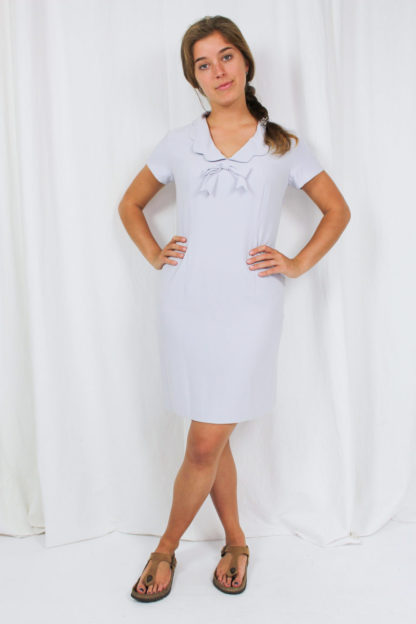 Kleid Blau Schleife