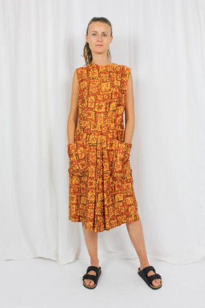 Vintage Kleid Orange