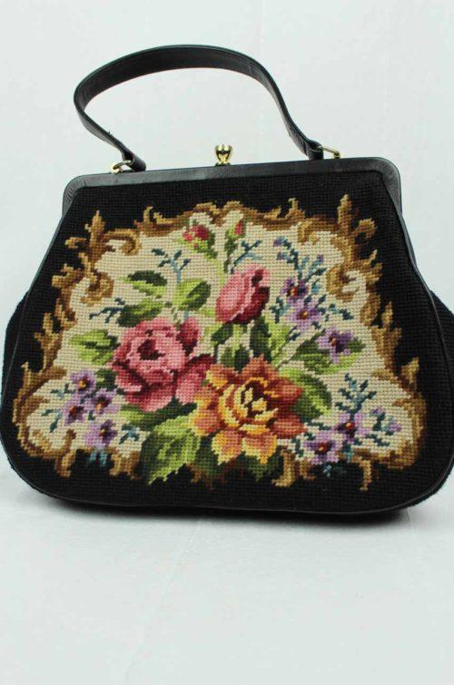Vintage Tasche Gobelinmuster