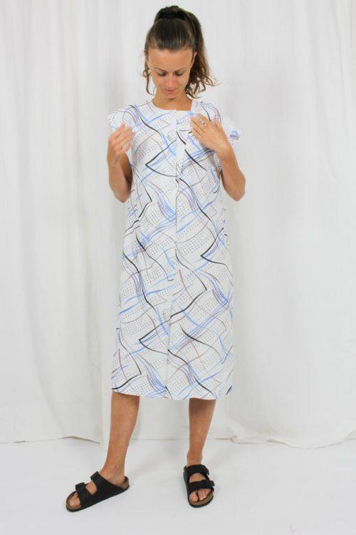 weißes Kleid Punkte