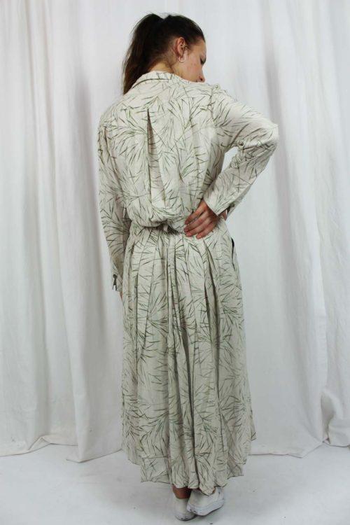 Kleid beige langarm maxi