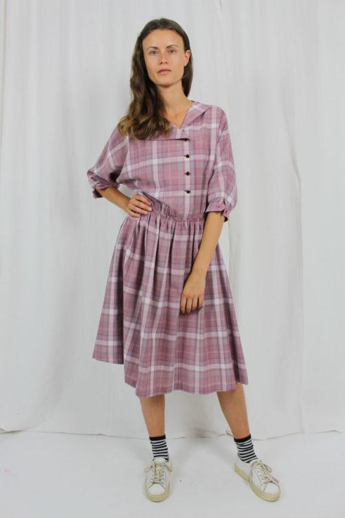Kleid rosa kariert Second Hand