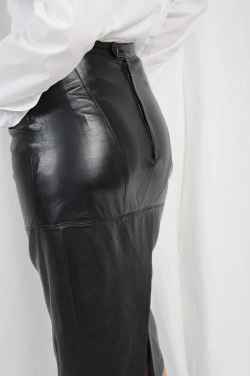 Lederrock schwarz Second Hand