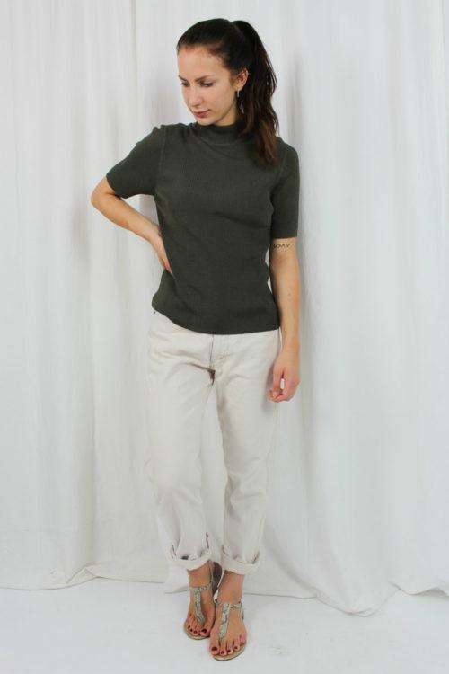 Pullover grün kurzarm