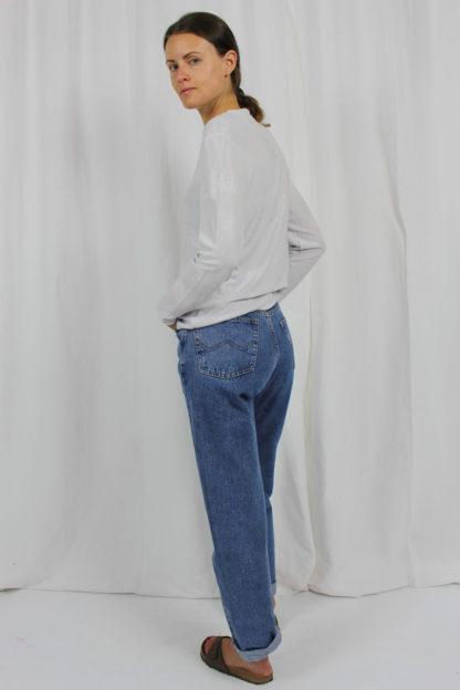 Shirt langarm weiß