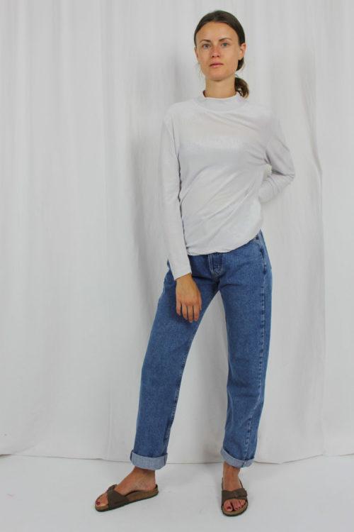 Shirt weiß hoher Kragen