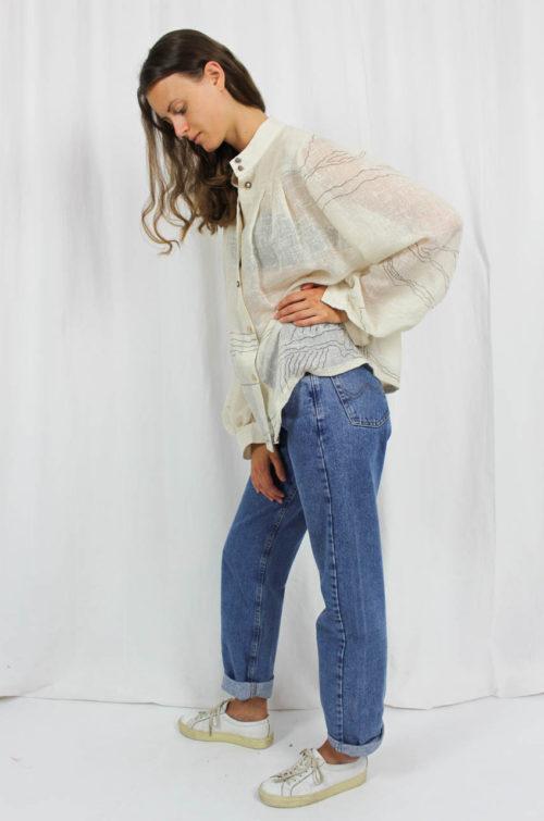Vintage Bluse beige