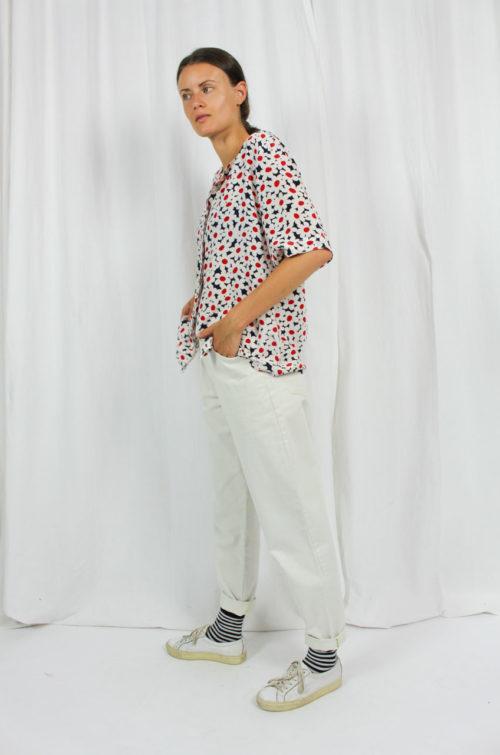 Vintage Bluse reine Seide