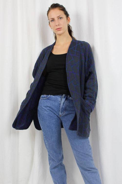 Vintage Jacke blau Muster