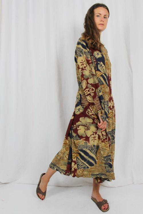 Vintage Kleid Midi bunt
