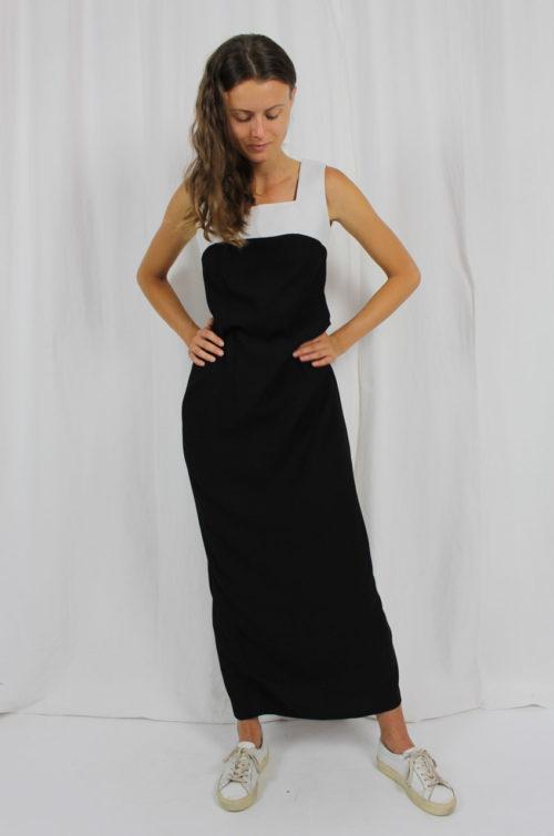 Vintage Kleid schwarz weiß