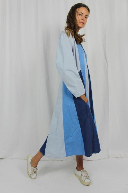 Vintage Maxikleid blau