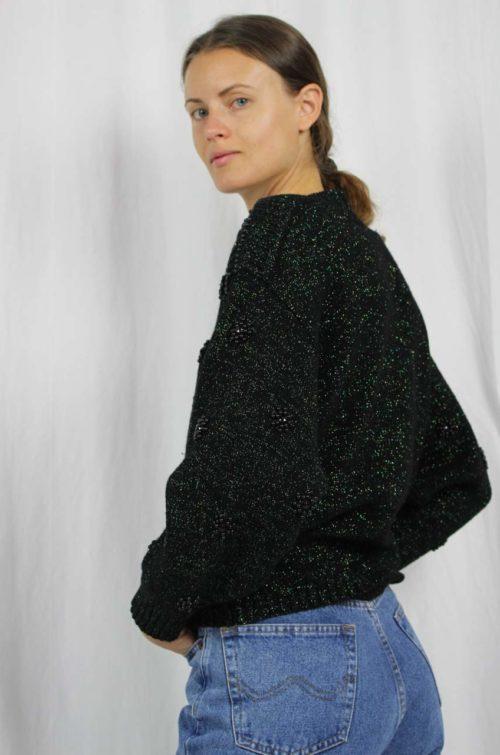 Vintage Pullover dunkel grün