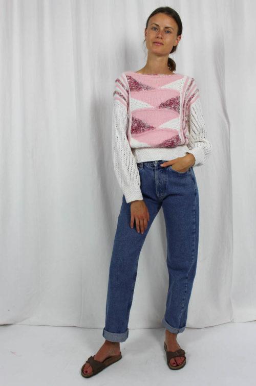 Vintage Pullover selbst gestrickt