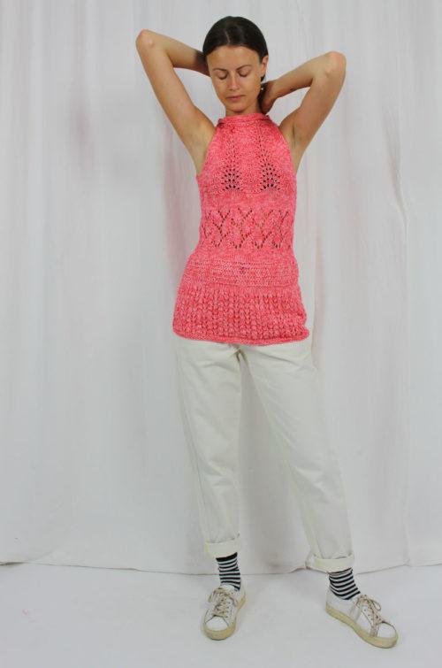 Vintage Pullunder pink