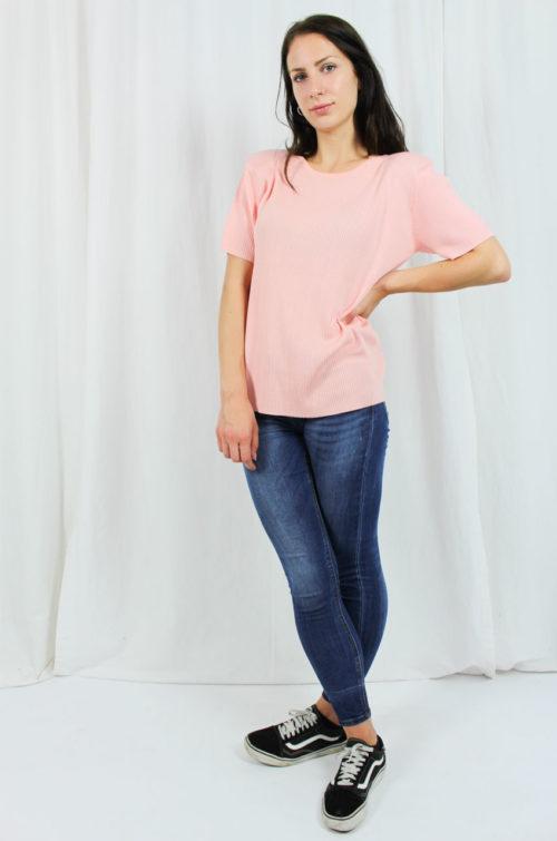 Vintage Shirt kurzarm rosa