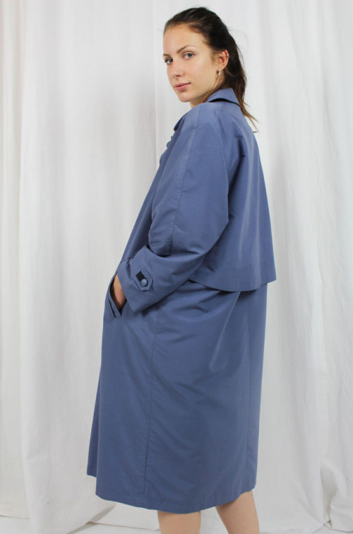 Vintage Trenchcoat blau