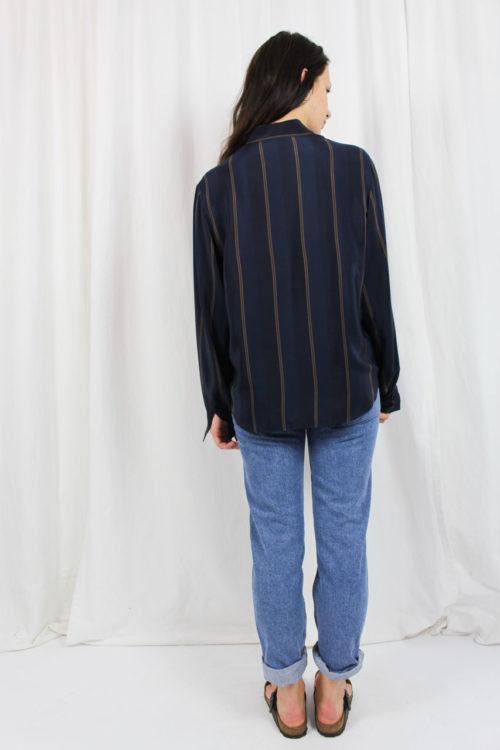blaue Bluse van Laack Second Hand