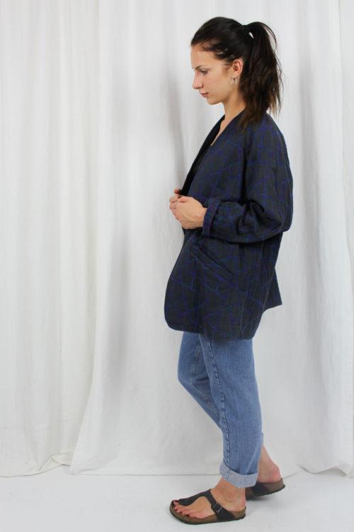 blauer Blazer mit Muster
