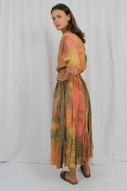 buntes Kleid batik Second Hand