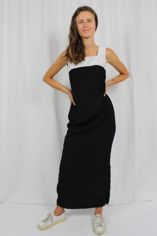 schwarzes Kleid Vintage Dantella