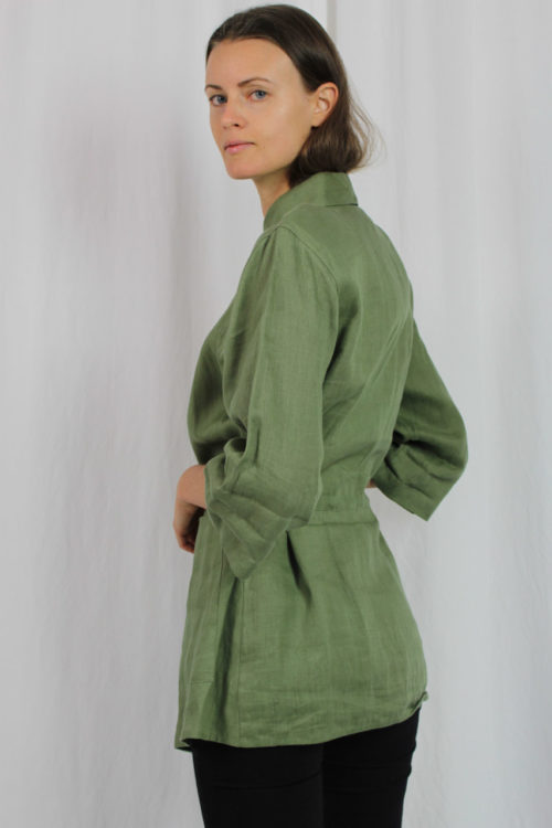 Jacke grün Taillenband
