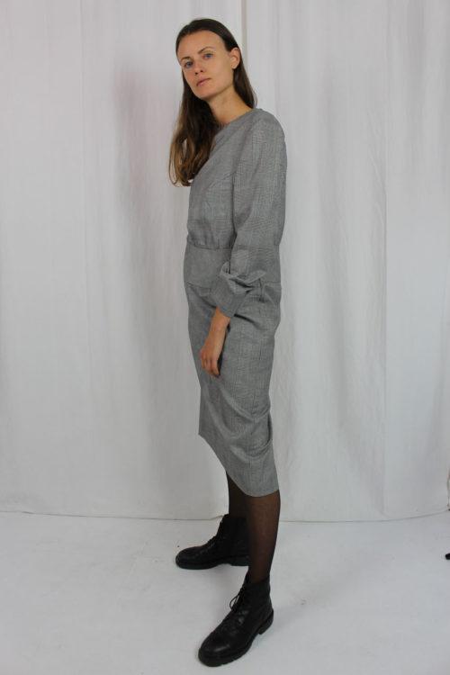 Kleid Blazer Hahnentrittmuster