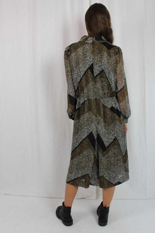 Kleid braun mit Muster