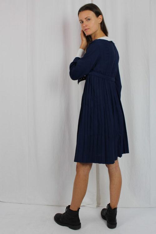Minikleid blau 60er Jahre Second Hand