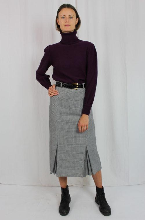 Pullover lila Rollkragen