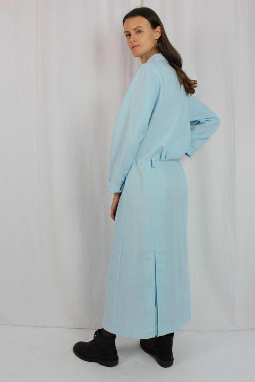 Vintage Kleid blau maßgeschneidert