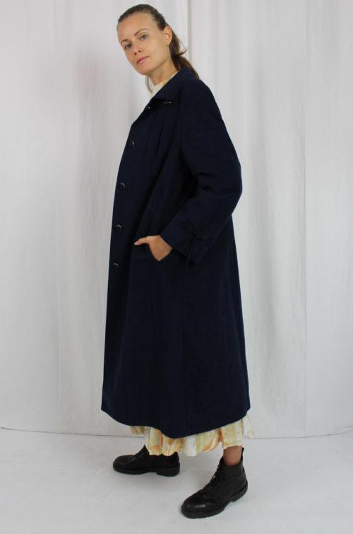 Vintage Mantel dunkelblau