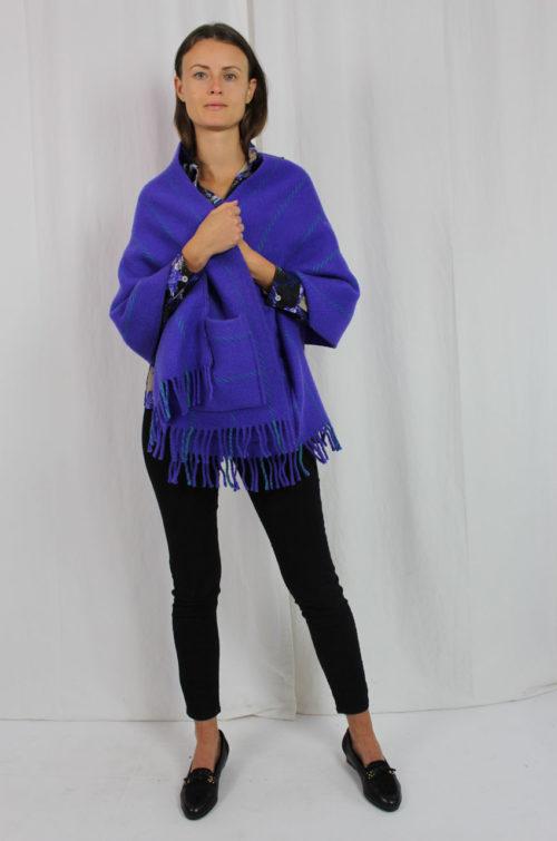 Vintage Poncho Lila