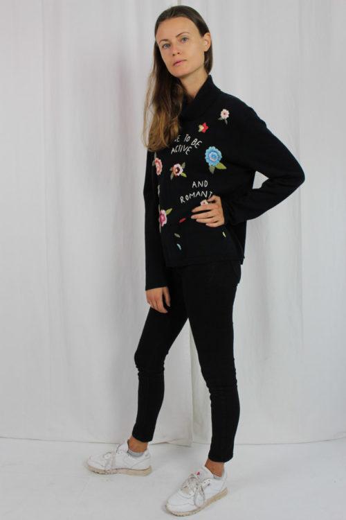 Vintage Pullover schwarz