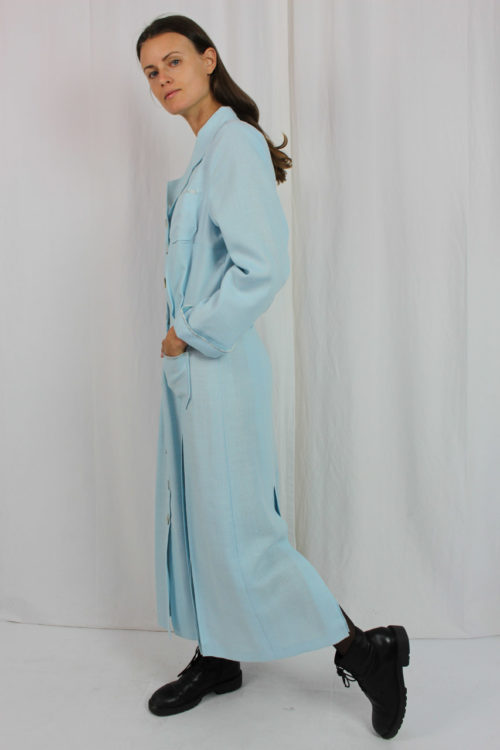 blaues Maxikleid Second Hand