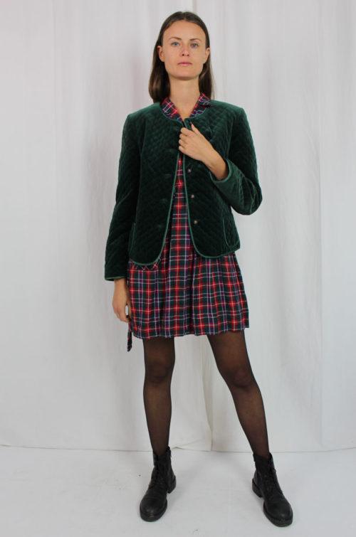 grüne Jacke gesteppt