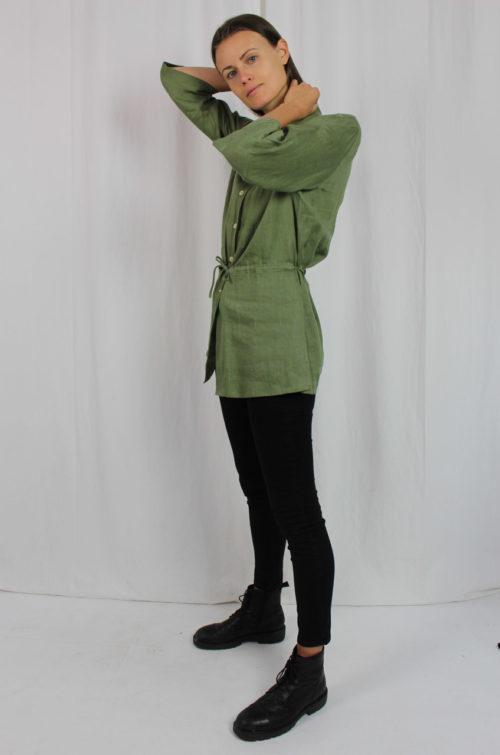 grüne Jacke halbarm