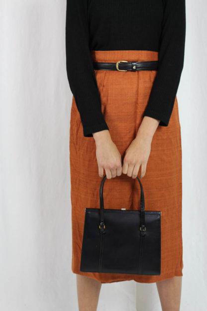orangener Midirock