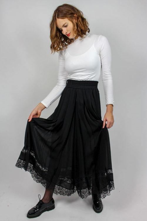 Hosenrock schwarz Plissee