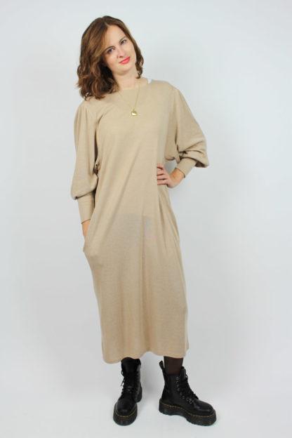 Kleid beige Manschette