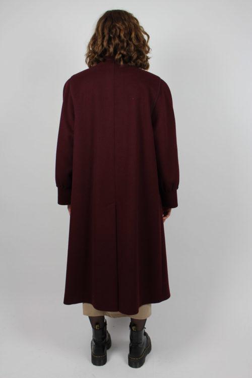 Mantel bordeaux lang