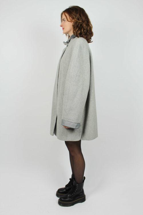 Mantel grau kurz