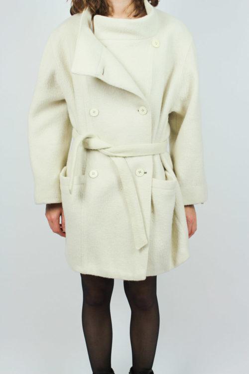 Mantel kurz weiß