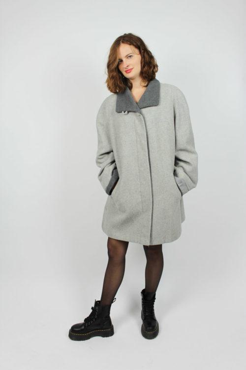Mantel mit Taschen grau