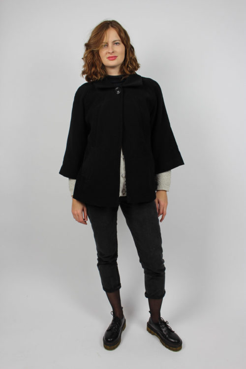 Mantel schwarz kurz