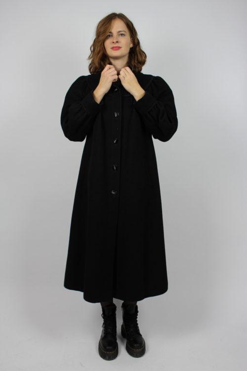 Mantel schwarz lang