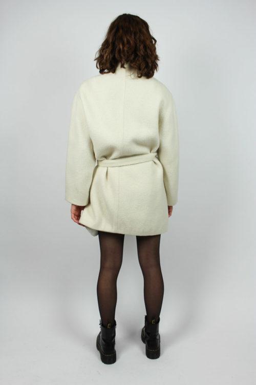 Mantel weiß Taillengürtel