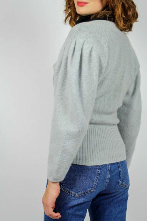 Pullover grau V-Ausschnitt