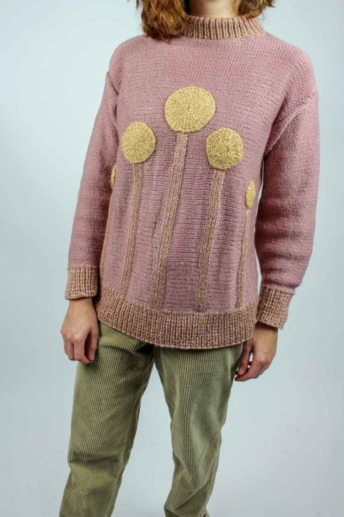 Pullover rosa Lurex